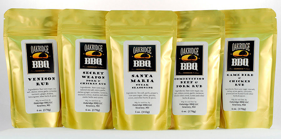 Oakridge BBQ Rub Samples