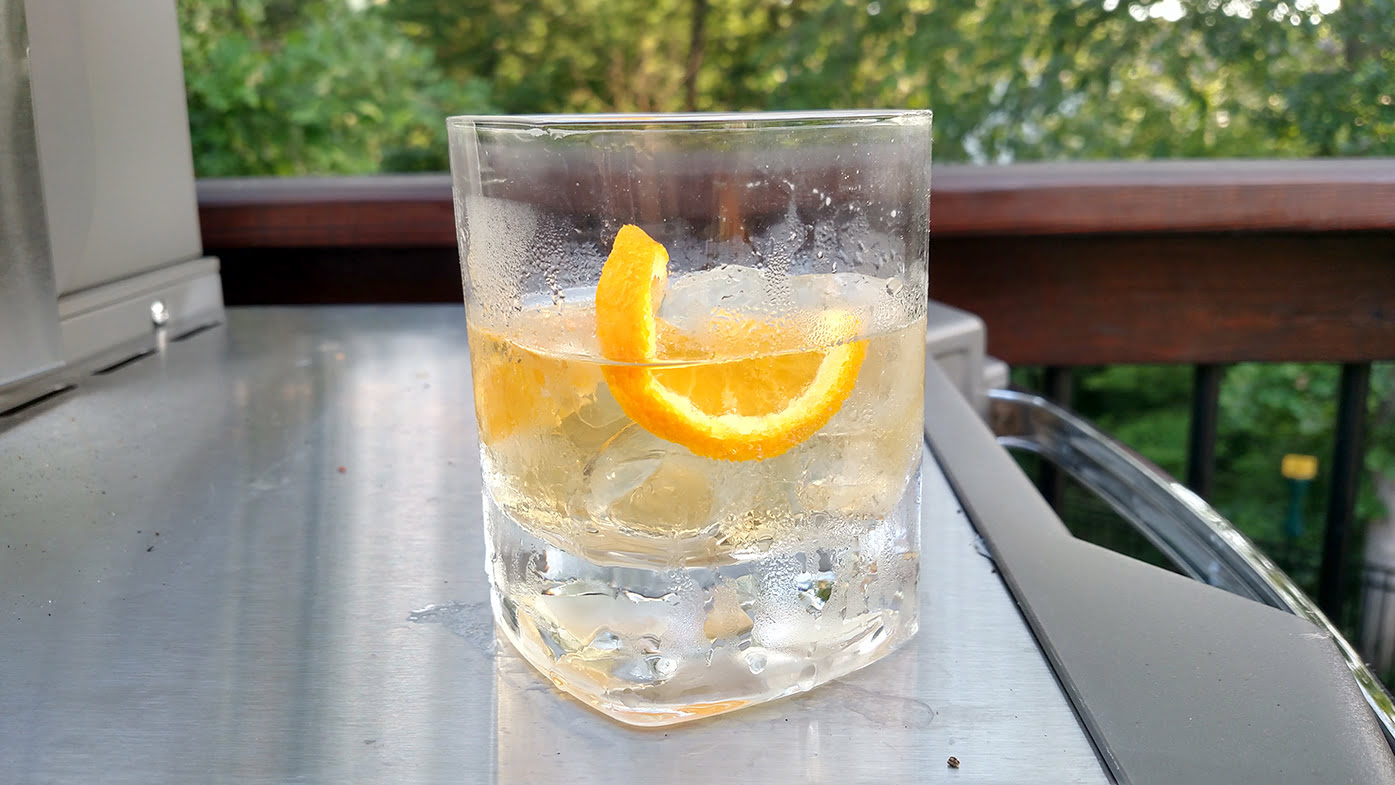 Rye and Ginger with Orange