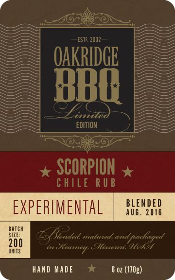 Oakridge Scorpion label 2016 Front