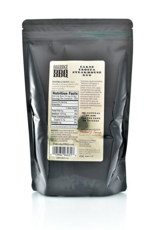 Oakridge BBQ Carne Crosta Steakhouse Rub