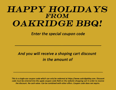 oakridge bbq holiday gift certificate
