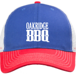 free oakridge bbq baseball hat red white blue cap