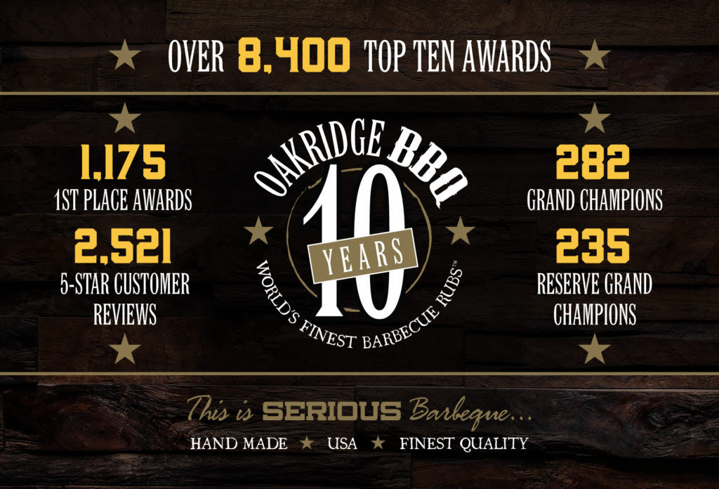 oakridge bbq top ten awards 2020 ten years