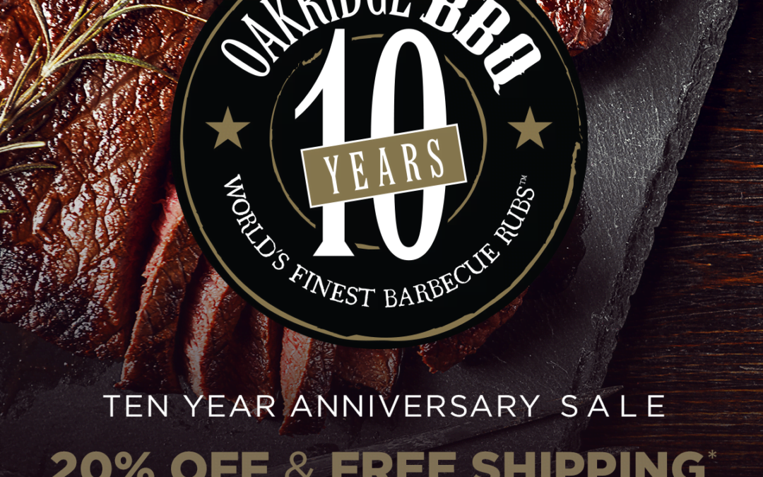 Oakridge BBQ's 10 Year Anniversary Sale!